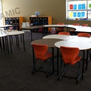 Cove tables & Series 200 Cantilever chairs