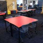 Square table with Series 200 Cantilever chairs