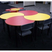 Cove tables and Student chairs