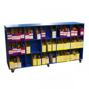 Guided reading book trolley