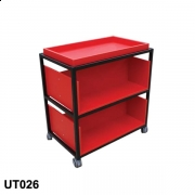 Mobile double sided trolley