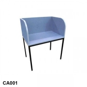 Carrel with curved sides