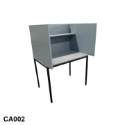 Carrel with straight sides