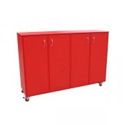 Mobile sotrage cupboard, Red