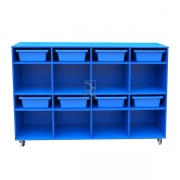 Mobile storage, Blue with Blue insert