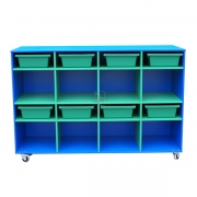 Mobile storage, Blue with Green insert