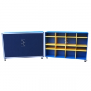 Mobile storage trolleys with Pinboard backs