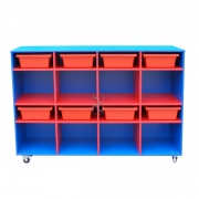 Mobile storage, Blue with Red insert