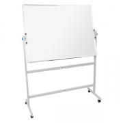 Double sided pivoting whiteboard