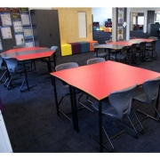 Cantilever student chairs with Student tables