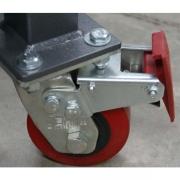 Heavy duty locking wheels