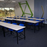 Rectangular tables & Series 200 Cantilever chairs