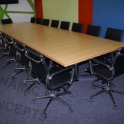 Rectangular boardroom table & Ergonomic seating