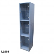 Staff locker with perspex doors